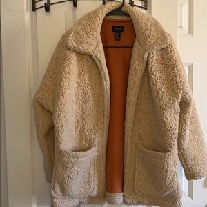 Teddy bear coat faux shearling